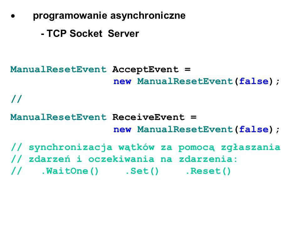 · programowanie asynchroniczne