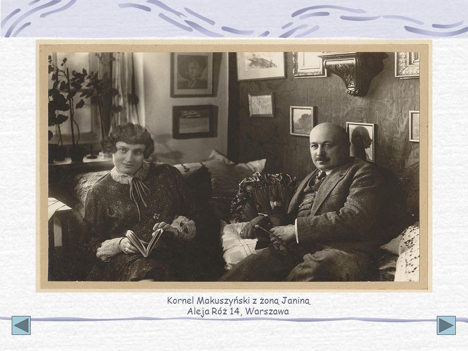 Kornel Makuszyński z żoną Janiną Aleja Róż 14, Warszawa