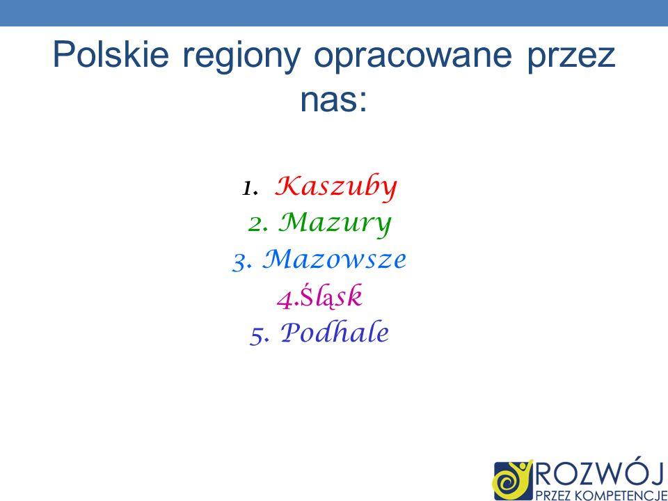 Polskie regiony opracowane przez nas: