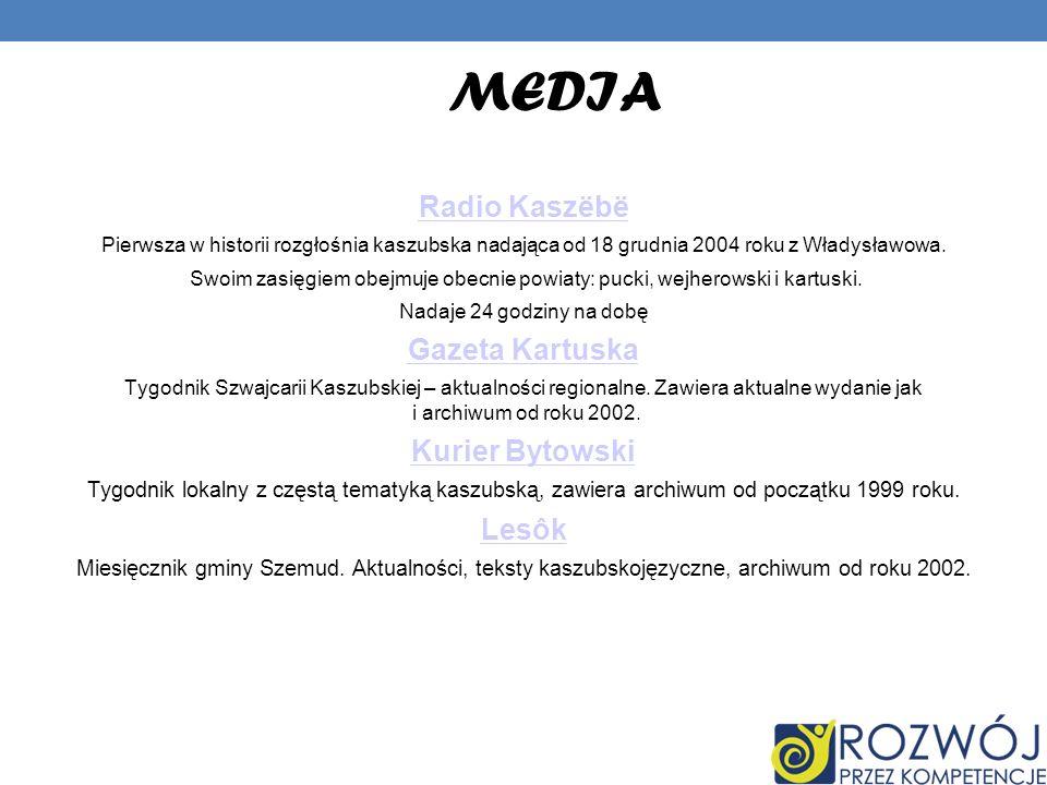 MEDIA Radio Kaszëbë Gazeta Kartuska Kurier Bytowski Lesôk