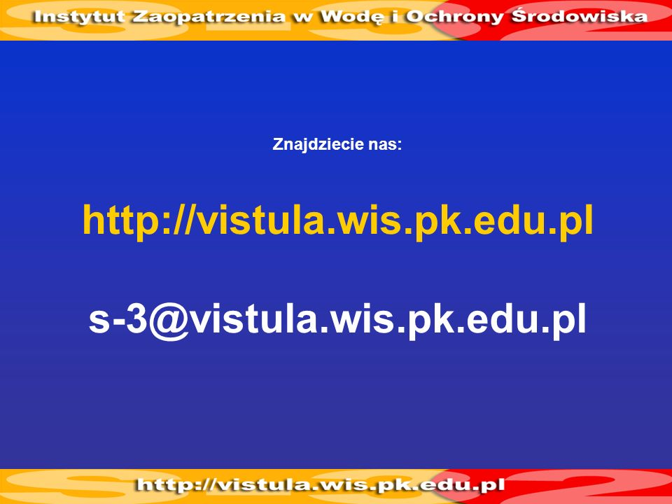 http://vistula.wis.pk.edu.pl s-3@vistula.wis.pk.edu.pl