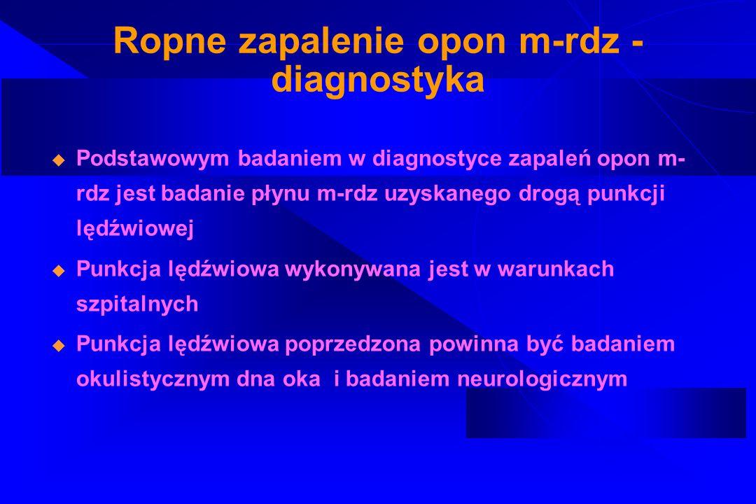 Ropne zapalenie opon m-rdz - diagnostyka