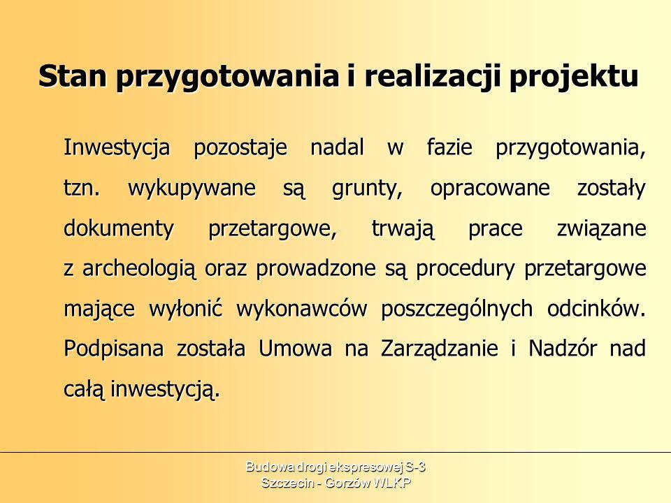 Budowa drogi ekspresowej S-3 Szczecin - Gorzów WLKP