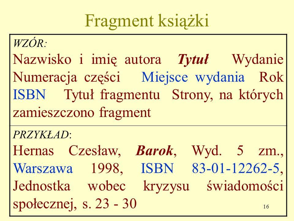 Fragment książki WZÓR: