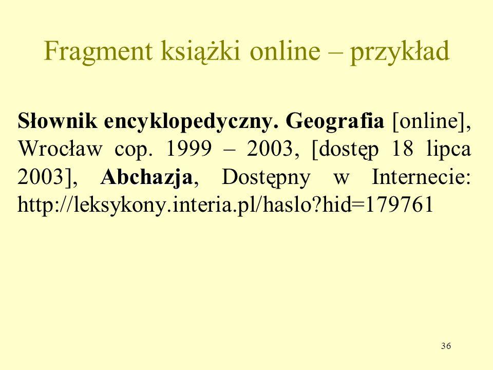 Fragment książki online – przykład