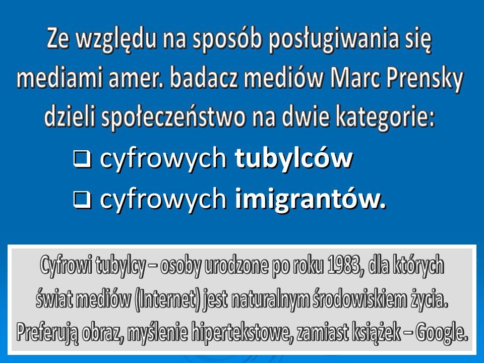 cyfrowych tubylców cyfrowych imigrantów.