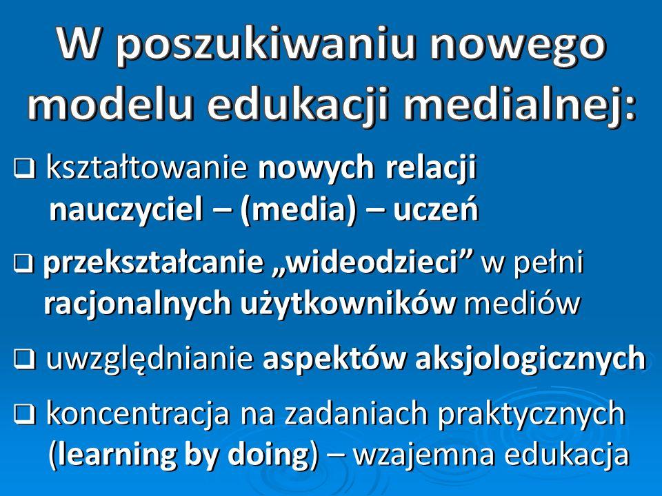 modelu edukacji medialnej: