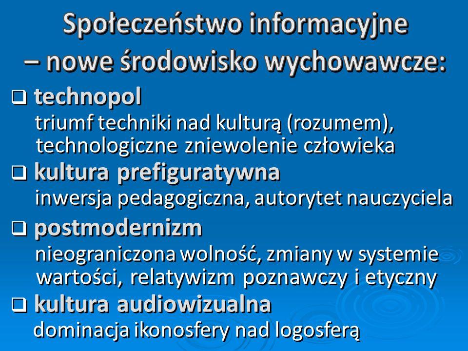 Społeczeństwo informacyjne – nowe środowisko wychowawcze: