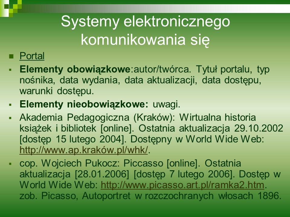 Systemy elektronicznego komunikowania się