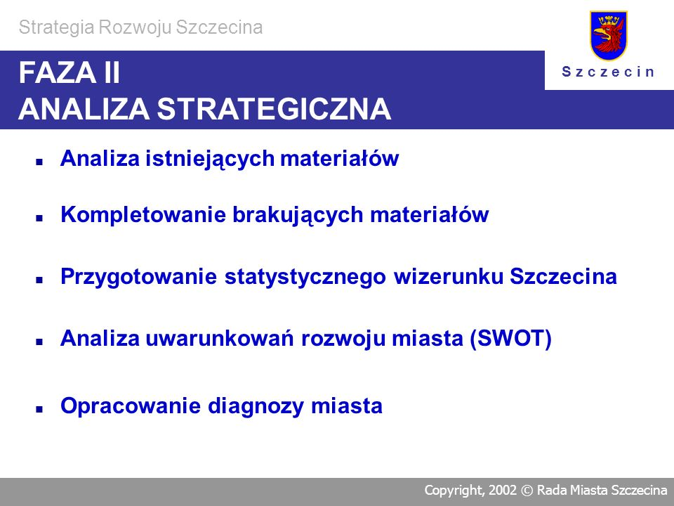 FAZA II ANALIZA STRATEGICZNA