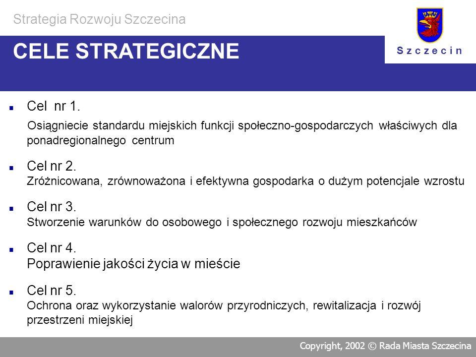 CELE STRATEGICZNE Strategia Rozwoju Szczecina Cel nr 1.