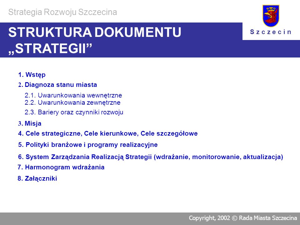 "STRUKTURA DOKUMENTU ""STRATEGII"