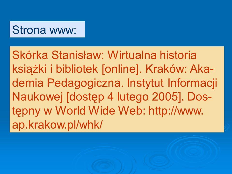 Strona www: