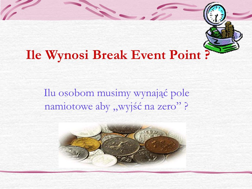 Ile Wynosi Break Event Point