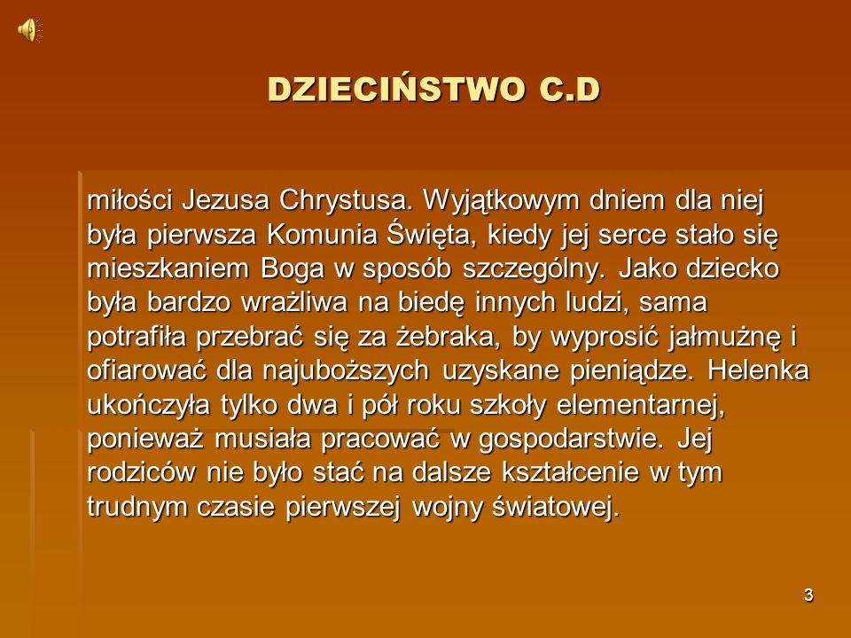 DZIECIŃSTWO C.D