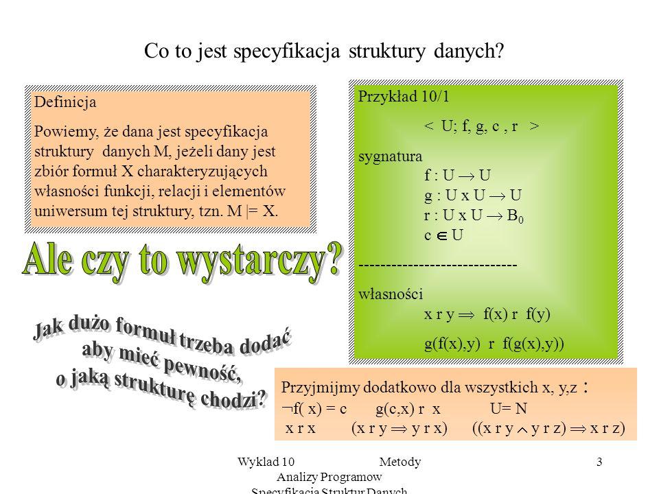 Co to jest specyfikacja struktury danych