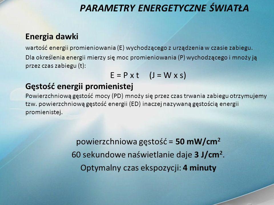 PARAMETRY ENERGETYCZNE ŚWIATŁA