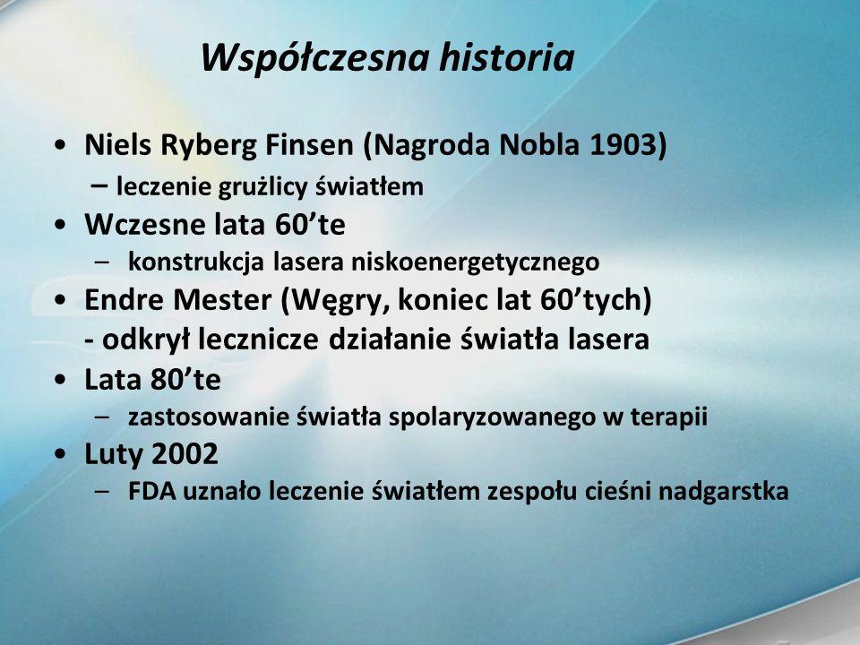 Współczesna historia Niels Ryberg Finsen (Nagroda Nobla 1903)