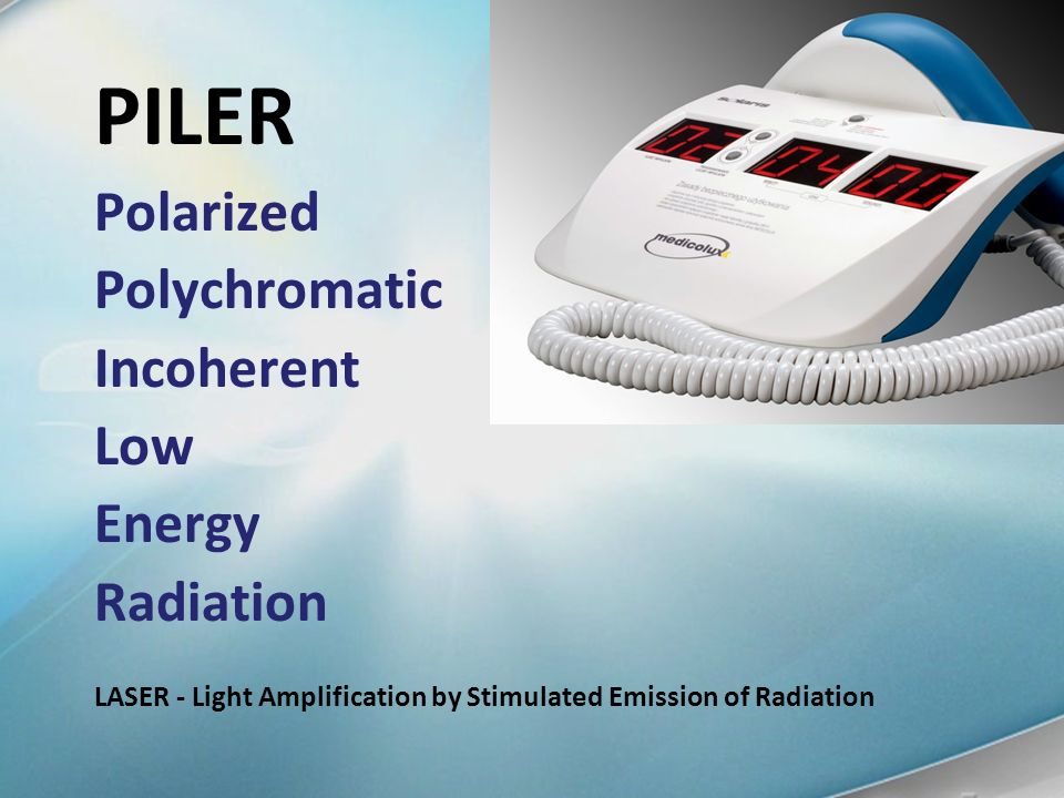 PILER Polarized Polychromatic Incoherent Low Energy Radiation
