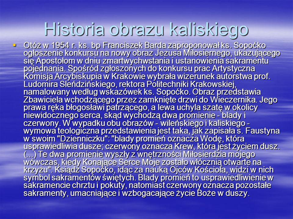 Historia obrazu kaliskiego