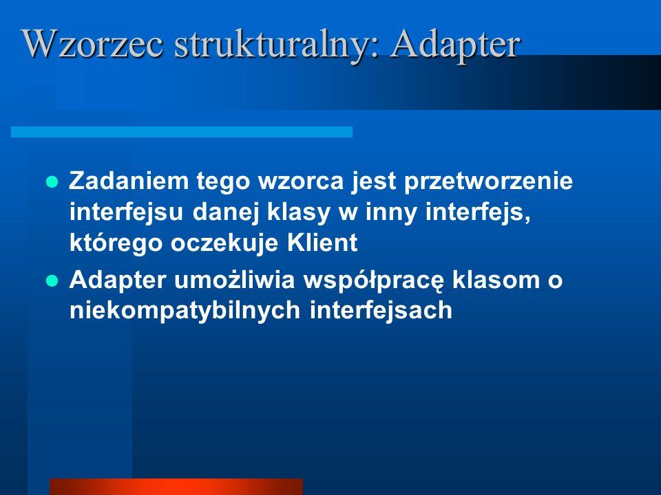 Wzorzec strukturalny: Adapter