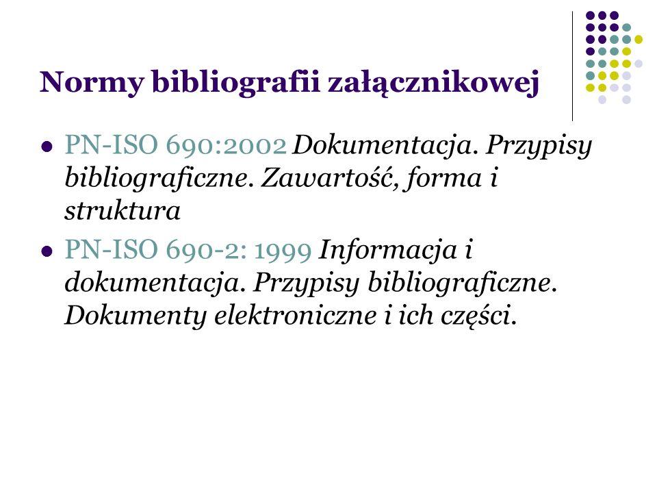 Normy bibliografii załącznikowej