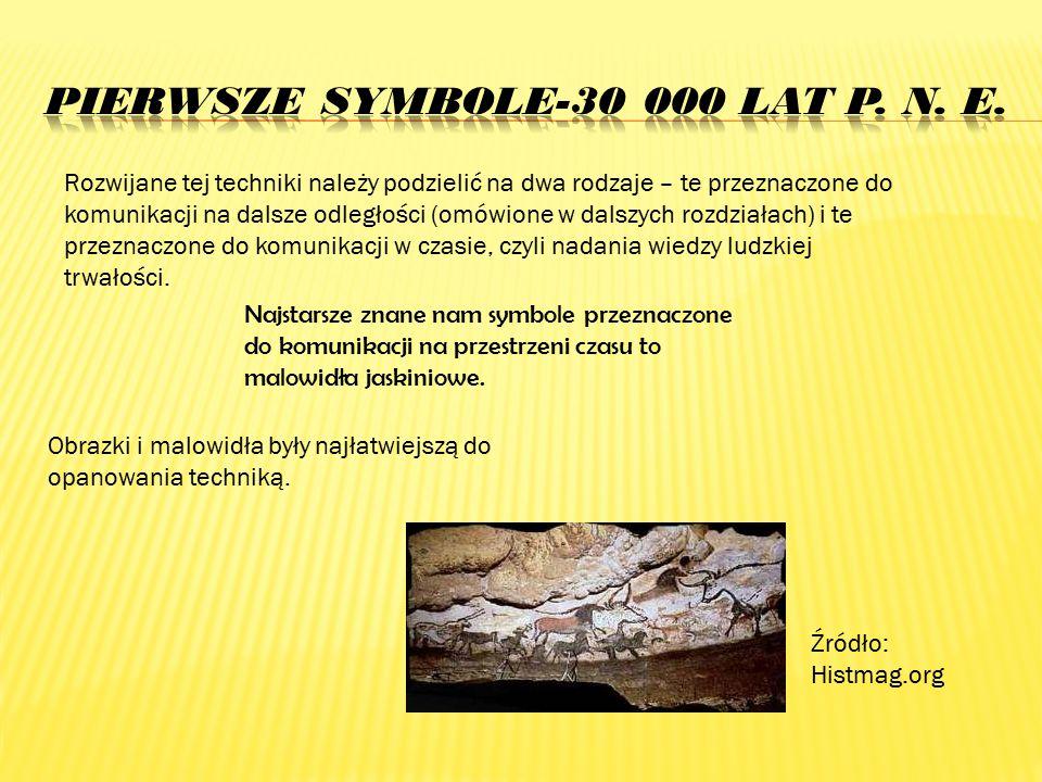 Pierwsze symbole-30 000 lat p. n. E.