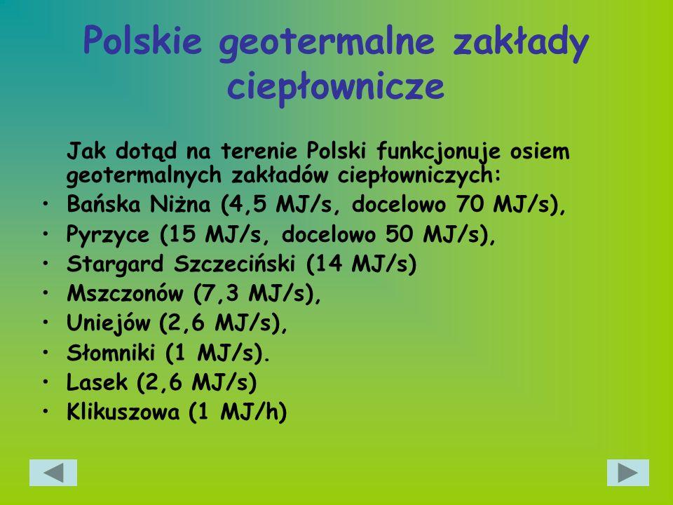 Polskie geotermalne zakłady ciepłownicze