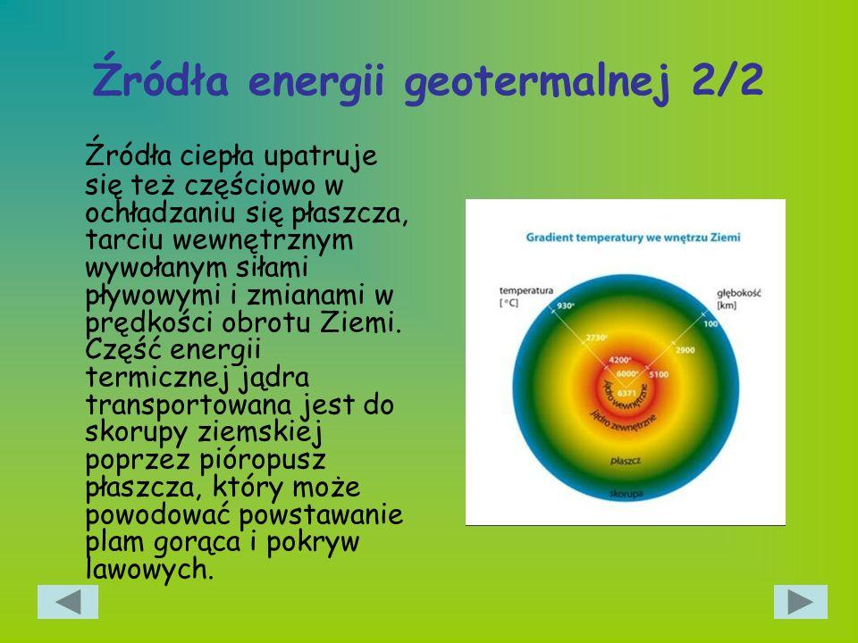 Źródła energii geotermalnej 2/2