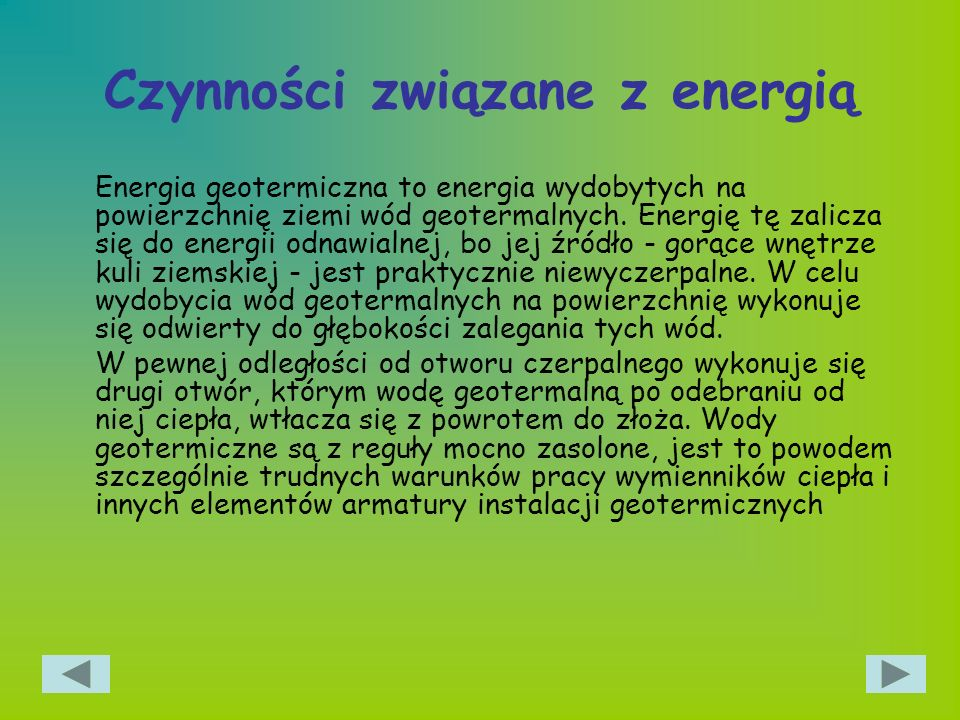 Czynności związane z energią