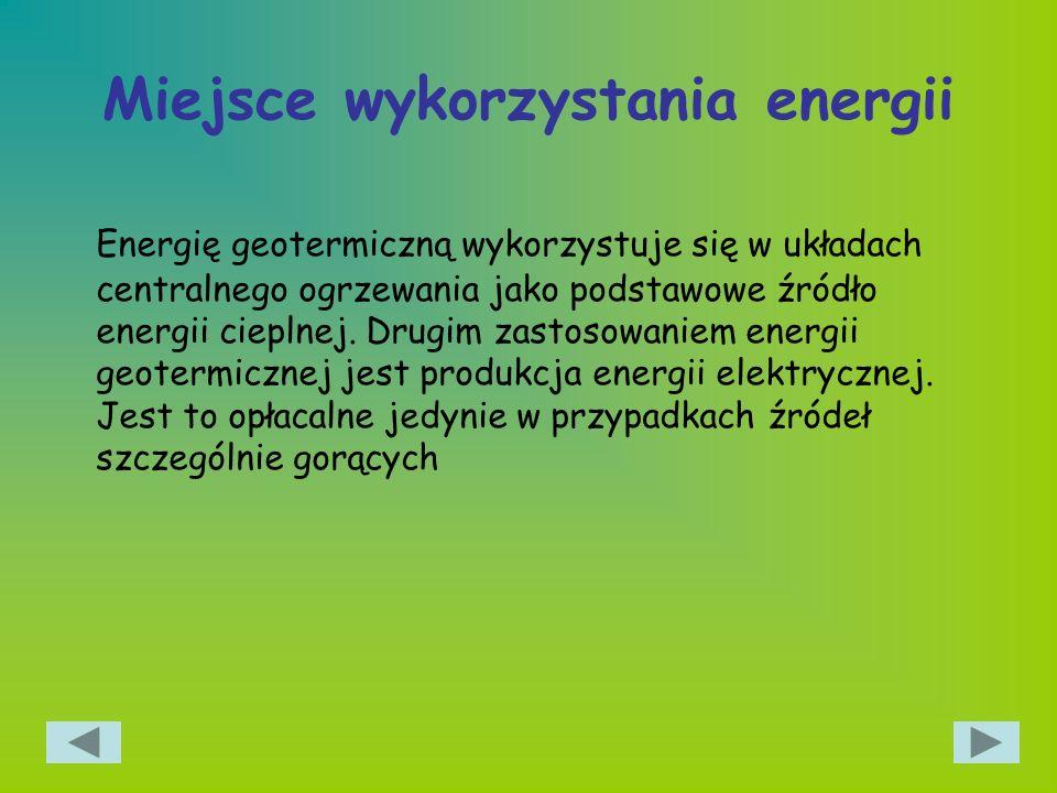 Miejsce wykorzystania energii