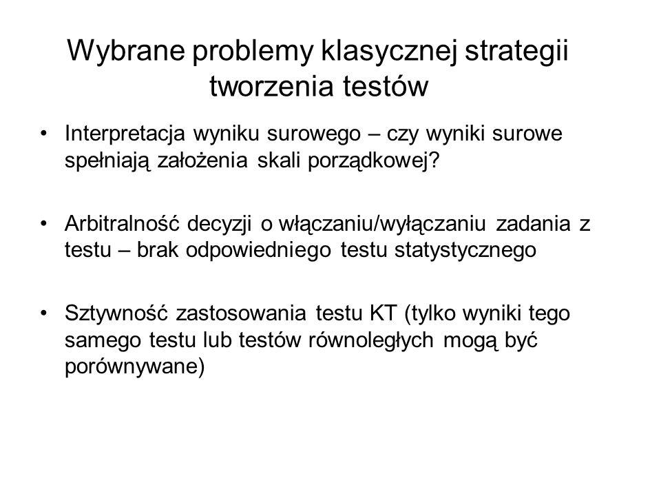 Wybrane problemy klasycznej strategii tworzenia testów