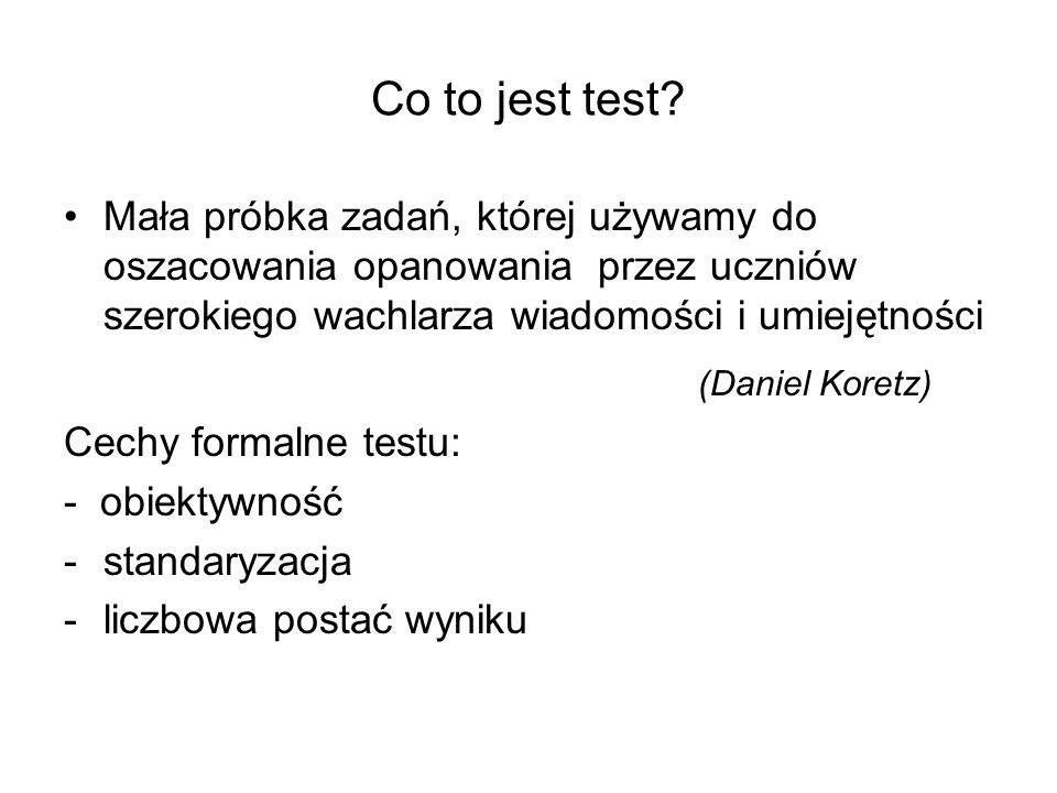 Co to jest test (Daniel Koretz)
