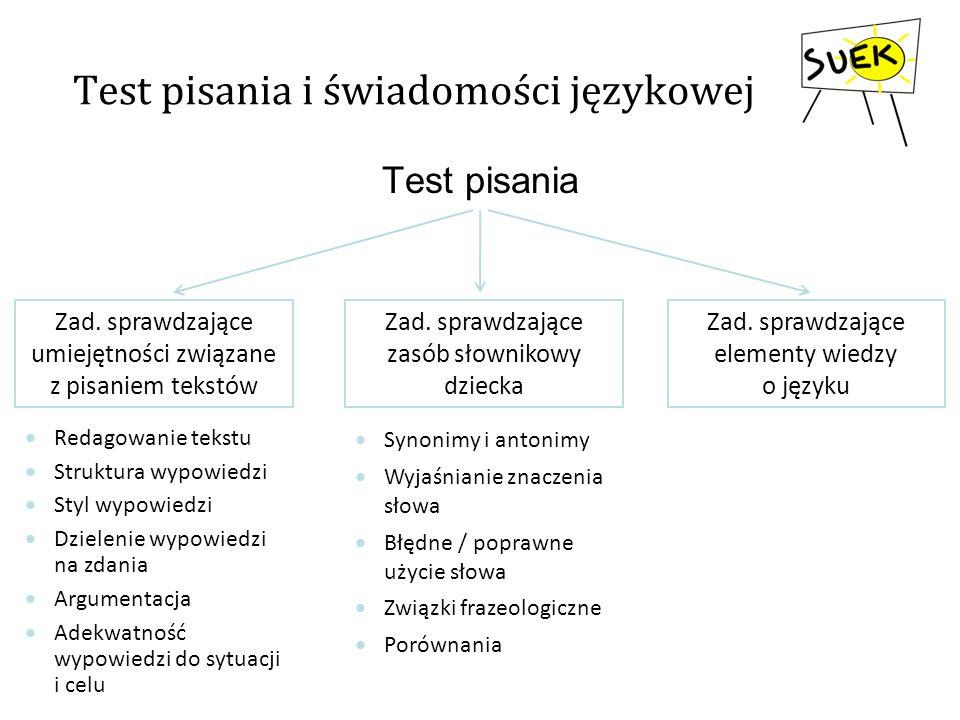Test pisania i świadomości językowej
