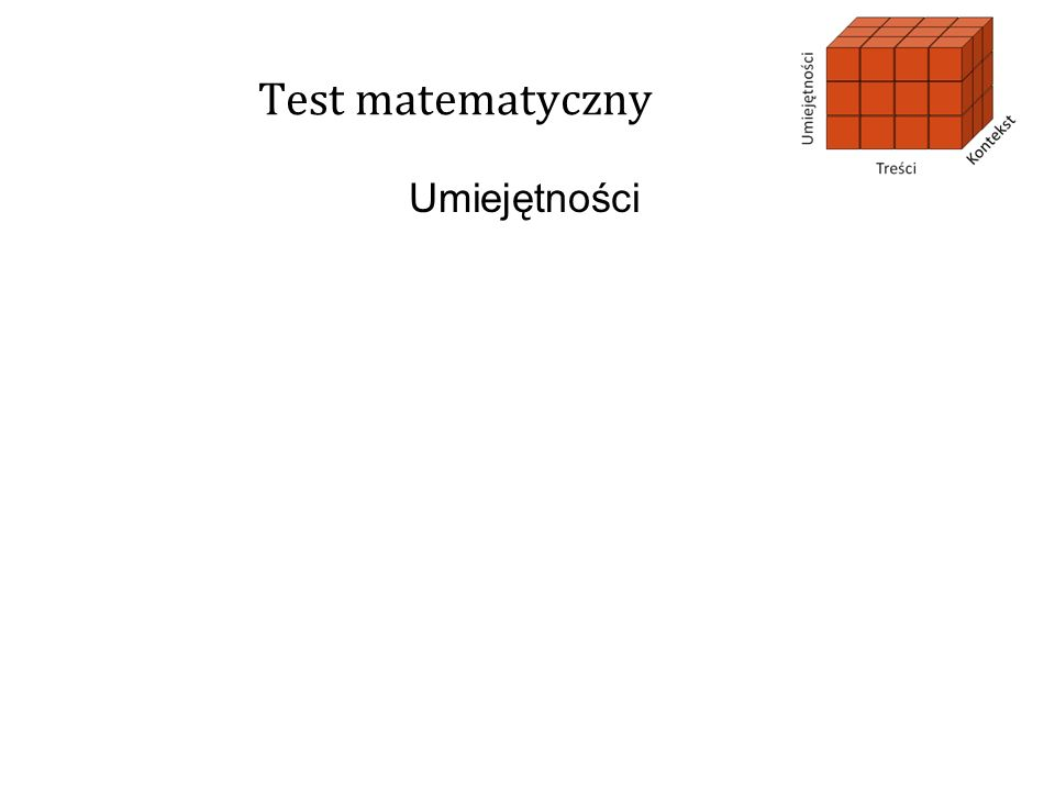 Test matematyczny Umiejętności