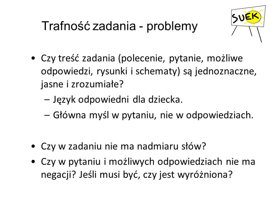 Trafność zadania - problemy