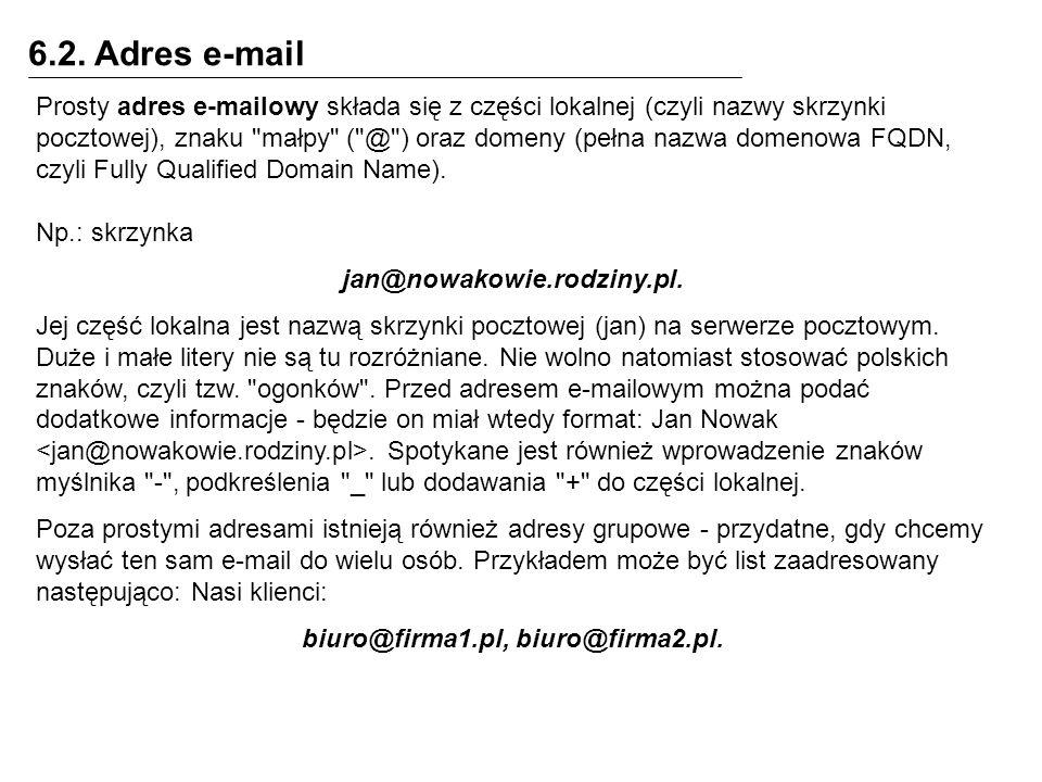 biuro@firma1.pl, biuro@firma2.pl.