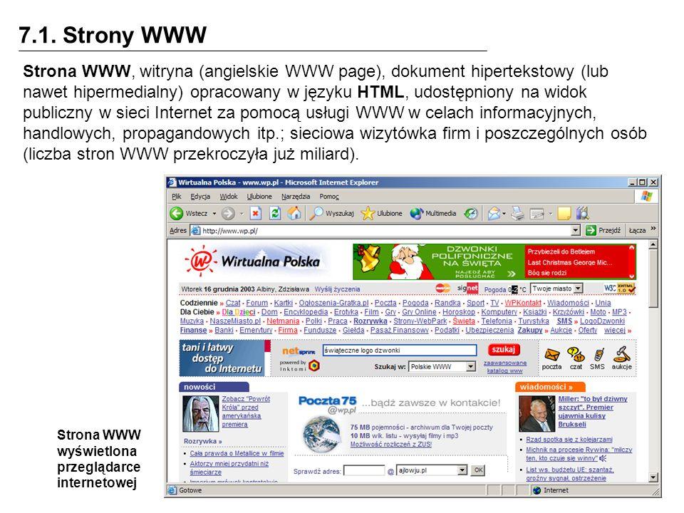 7.1. Strony WWW