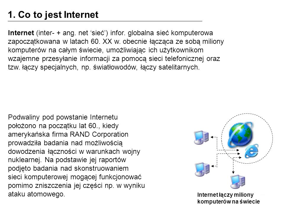 1. Co to jest Internet