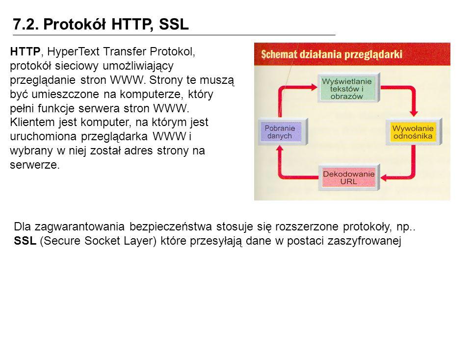 7.2. Protokół HTTP, SSL
