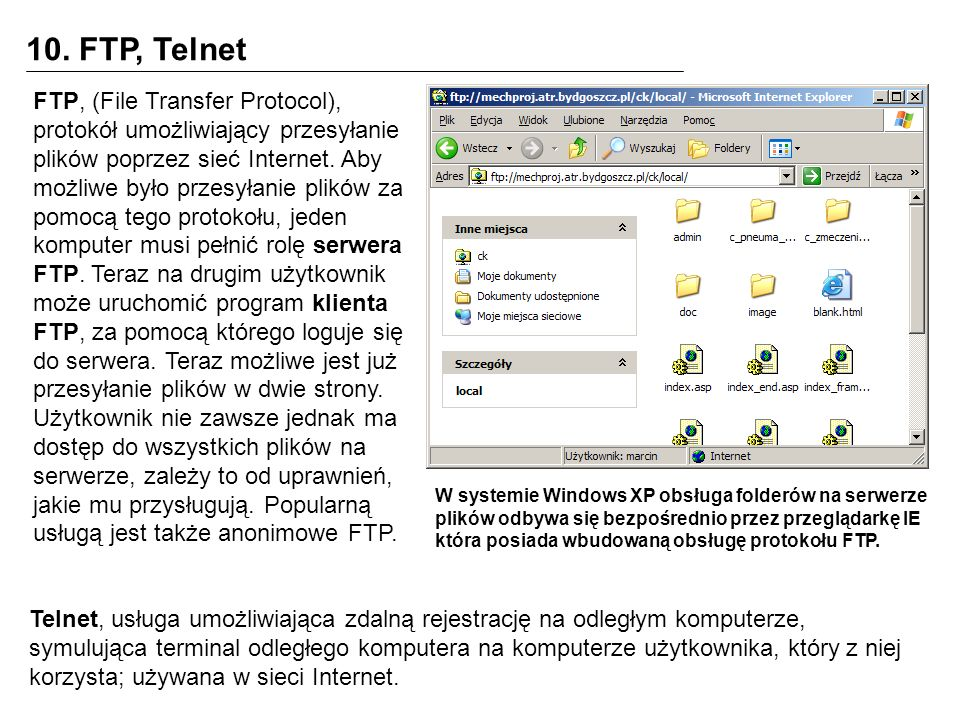 10. FTP, Telnet
