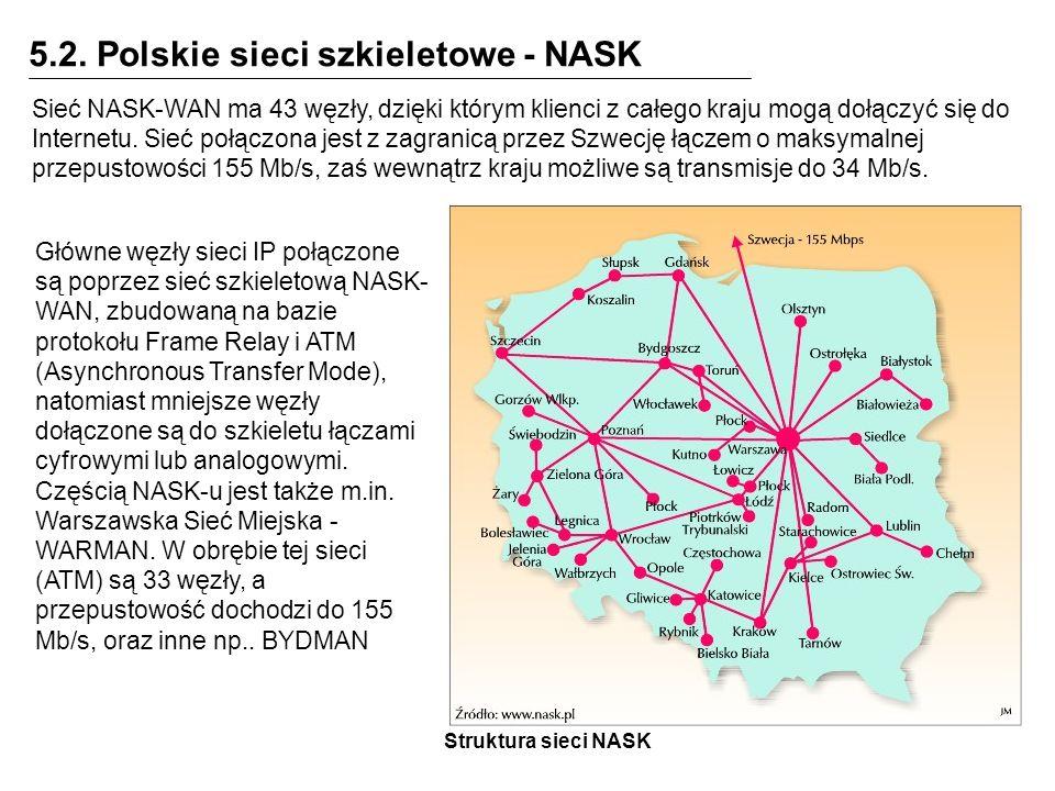 5.2. Polskie sieci szkieletowe - NASK