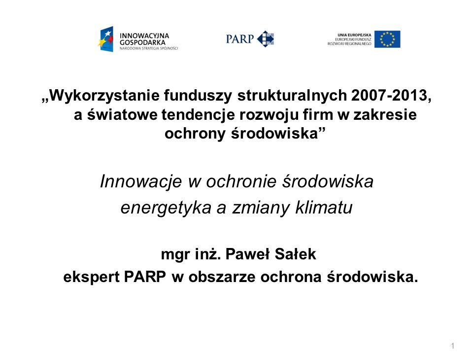 mgr inż. Paweł Sałek ekspert PARP w obszarze ochrona środowiska.