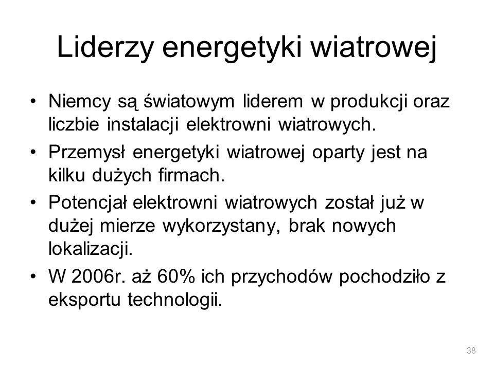 Liderzy energetyki wiatrowej