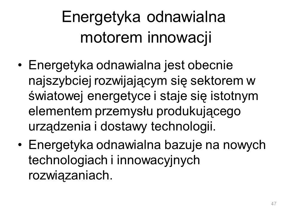 Energetyka odnawialna motorem innowacji