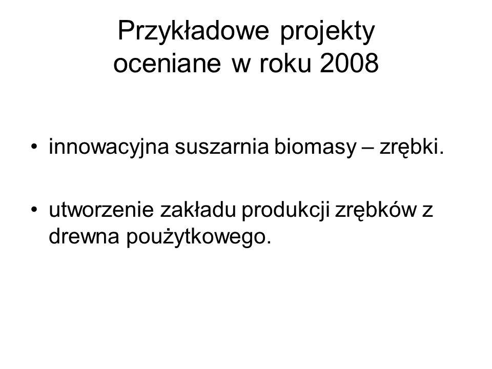Przykładowe projekty oceniane w roku 2008
