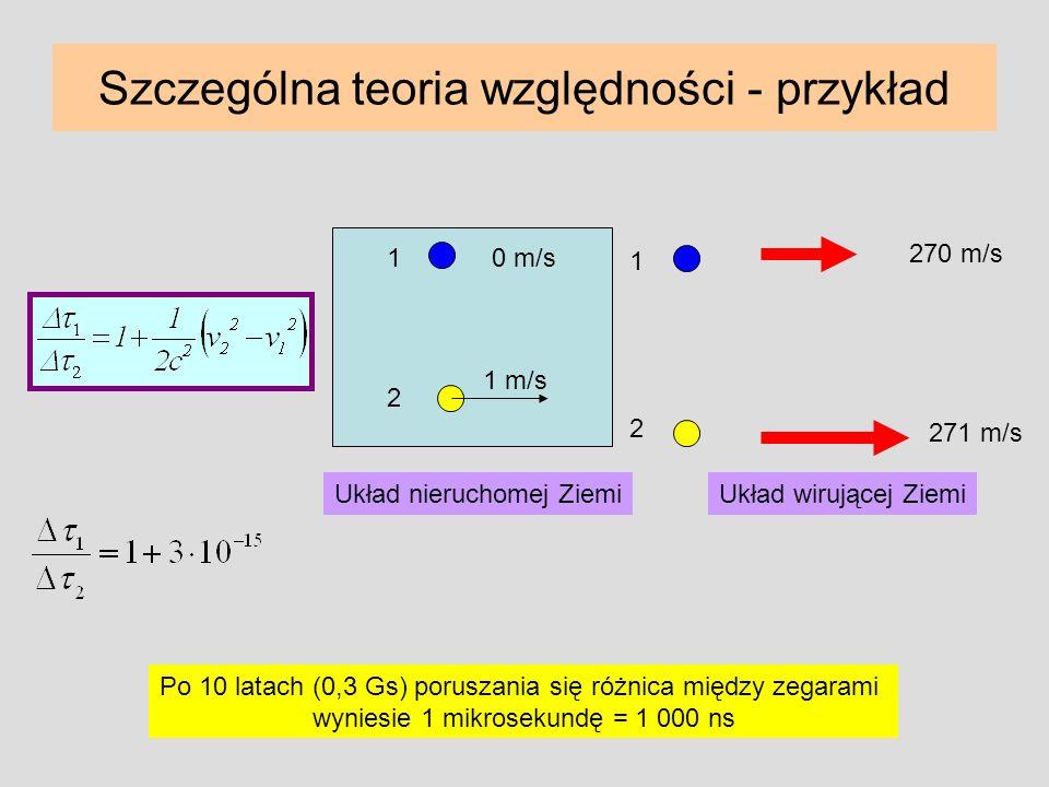 Szczególna teoria względności - przykład