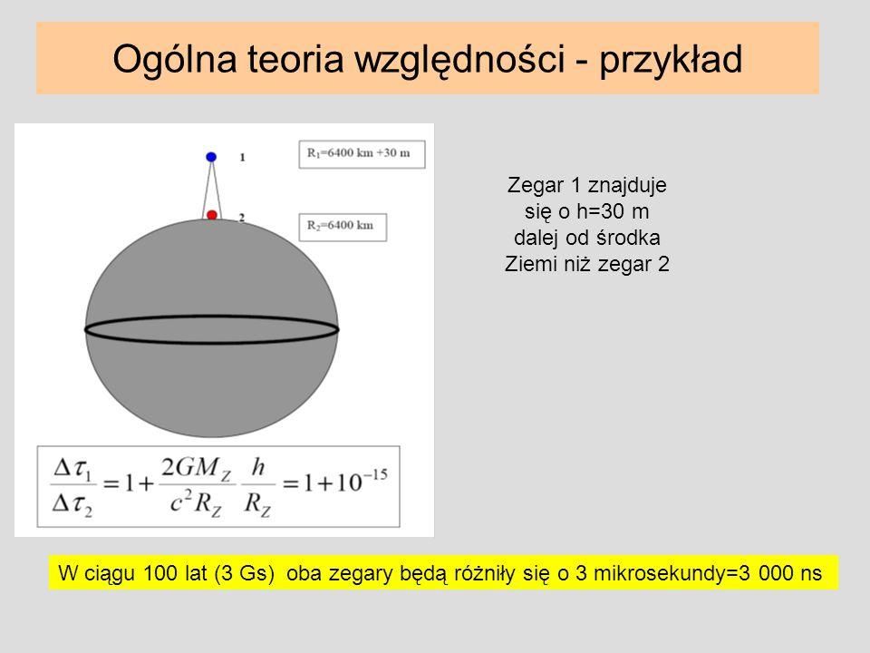 Ogólna teoria względności - przykład
