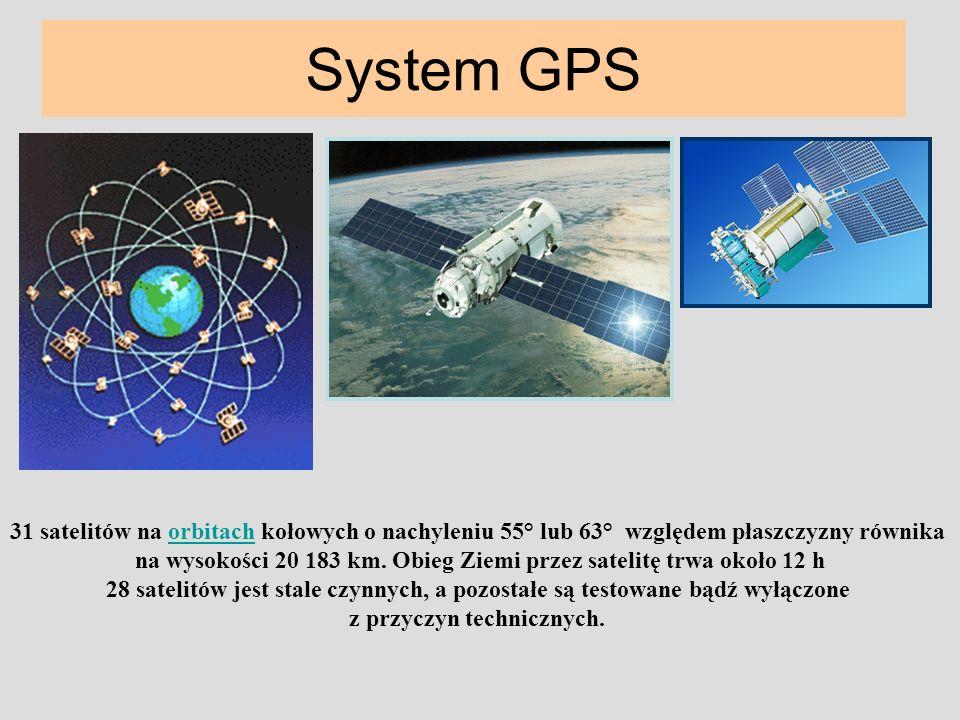 na wysokości 20 183 km. Obieg Ziemi przez satelitę trwa około 12 h