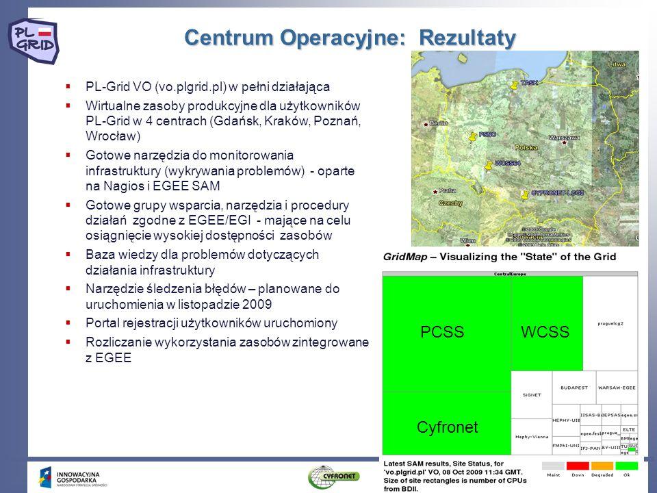 Centrum Operacyjne: Rezultaty